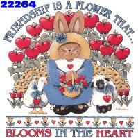 Click to order printed t-shirt 22264... Friendship is a Flower that Blooms in the Heart