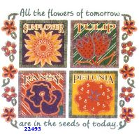 Click to order printed t-shirt 22493... All the Flowers of Tomorrow are in the Seeds of Today.