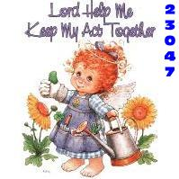 Click to order printed t-shirt 23047... Lord Help Me Keep My Act Together 2001 © Morehead, Inc.