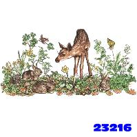 Click to order printed t-shirt 23216... Fawn and Bunnies (11
