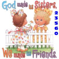 Click to order printed t-shirt 23560... God made us Sisters, We made us Friends.