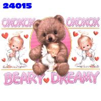 Click here to Order design 24015... Beary Dreamy. (1st quality t-shirts, sweatshirts, tank tops, baby doll tees, scoop neck tshirts and hooded fleece)