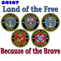 Click to order printed t-shirt 24147... Land of the Free Because of the Brave