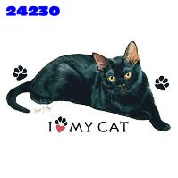 Click to order printed t-shirt 24230... I Love My Cat