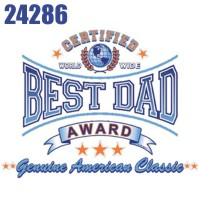 Click to order printed t-shirt 24286... Certified World Wide Best Dad Award Genuine American Classic