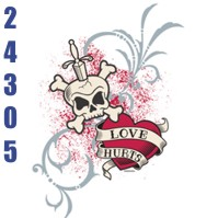 Click to order printed t-shirt 24305... Love Hurts
