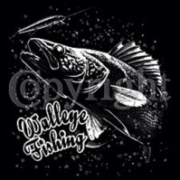 Click to order printed t-shirt 24358... Walleye Fishing