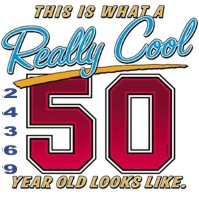 Click to order printed t-shirt 24369... This is What a Really Cool 50 Year Old Looks Like.