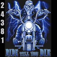 Click to order printed t-shirt 24381... Ride Til You Die