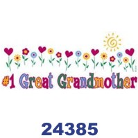 Click to order printed t-shirt 24385... #1 Great Grandmother