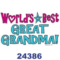 Click to order printed t-shirt 24386... World's Best Great Grandma!