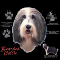 Click to order printed t-shirt 30810... Bearded Collie