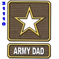 Click to order printed t-shirt 31110... Army  Dad