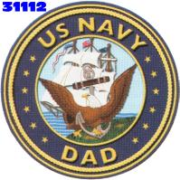 Click to order printed t-shirt 31112... US Navy Dad