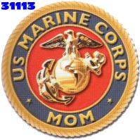 Click to order printed t-shirt 31113... US Marine Corps Mom