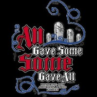 Click to order printed t-shirt 31193... All Gave Some Some Gave All Honoring our American Armed Forces