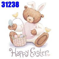 Click to order printed t-shirt 31238... Happy Easter, Bunny Bear