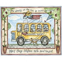 Click to order printed t-shirt 31255... The Wheels on the Bus go round and round... Keep these Children Safe and Sound.