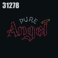 Click to order printed t-shirt 31278... Rhinestud Pure Angel (small print 4.5