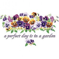 Click to order printed t-shirt 31290... a perfect day is in a garden