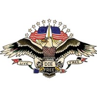 Click to order printed t-shirt 31310... American Pride Tattoo Live Free Die Free