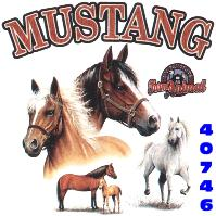 Click here to Order design 40746... Mustang My Favorite Farm Animal. (1st quality t-shirts, sweatshirts, tank tops, baby doll tees, scoop neck tshirts and hooded fleece)