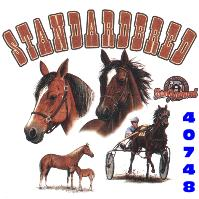 Click here to Order design 40748... Standardbred My Favorite Farm Animal. (1st quality t-shirts, sweatshirts, tank tops, baby doll tees, scoop neck tshirts and hooded fleece)