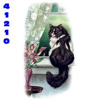 Click to order printed t-shirt 41210... Window Seat Long Haired Cat
