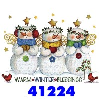 Click to order printed t-shirt 41224... Warm Winter Blessings Let it Snow (w/matching accent)