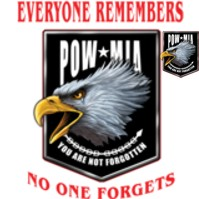 Click to order printed t-shirt 41260... Every One Remembers No One Forgets POW*MIA You are not forgotten w/ front crest