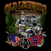 Click to order printed t-shirt 41318... Old Legends Never Die CSA