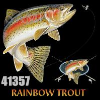Click to order printed t-shirt 41357... Rainbow Trout Combination (w/ matching crest)