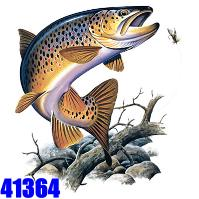 Click to order printed t-shirt 41364... Brown Trout