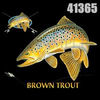 Click to order printed t-shirt 41365... Brown Trout Combination (w/ crest)