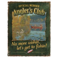 Click to order printed t-shirt 41470... Official Member Angler's Club No more wishin, let's go Fishin!