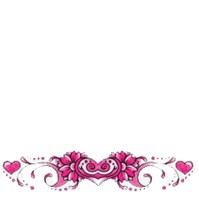 Click to order printed t-shirt 5238-9... Pink Flowers and Hearts (Tailbone back print)