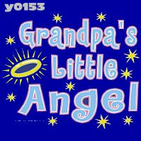 Click to order printed t-shirt y0153... Grandpa's Little Angel  youth sized print
