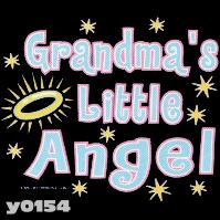 Click to order printed t-shirt y0154... Grandma's Little Angel youth sized print