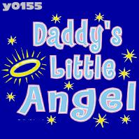 Click to order printed t-shirt y0155... Daddy's Little Angel  youth sized print