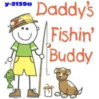Click to order printed t-shirt y2139a... Daddy´s Fishin´ Buddy Youth Size