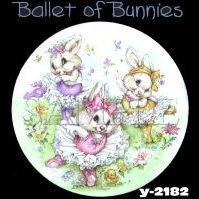 Click to order printed t-shirt y2182... Ballet of Bunnies (Youth Size)