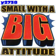 Click here to Order design y2738... Small with a Big Attitude (Youth Size Print). (1st quality t-shirts, sweatshirts, tank tops, baby doll tees, scoop neck tshirts and hooded fleece)