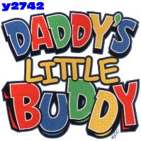 Click to order printed t-shirt y2742... Daddy's Little Buddy youth sized print