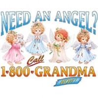 Click to order printed t-shirt y2753... Need an Angel? Call 1-800-Grandma Now! youth sized print