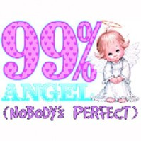 Click to order printed t-shirt y2763... 99% Angel (Nobody's Perfect) youth sized print