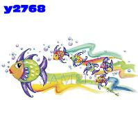 Click to order printed t-shirt y2768... Fish Family (Youth Size Print)