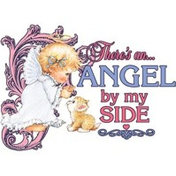 Click to order printed t-shirt y2796... There's an... Angel by my Side youth sized print