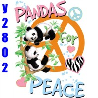 Click to order printed t-shirt y2802... Panda's for Peace (Youth Size Print)