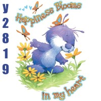 Click to order printed t-shirt y2819... Happiness Blooms in my heart (Youth Size Print)