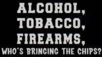 Alcohol Tobacco and Firearms. Whos bringing the chips? T-Shirt design.